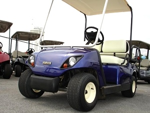 2000 Yamaha Golf Cart With Rear Fold Down Seat - Pre Owned