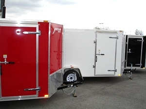 2015 Patroit Vee  Nose Enclosed Trailer Ramp Door 36