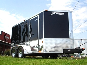 2012 Homesteader EZ Rider V nose Motorcycle Trailer