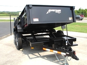 7X12 HX Homesteader Dump Trailer includes Fork Caddy,Side Gate and Pair 6'Ramps