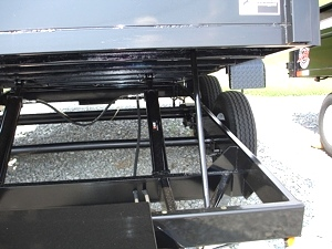 7X12 HX Homesteader Dump Trailer includes a Pair of 6'Ramps