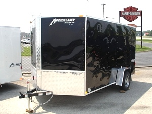 2011 7 X 12 Homesteader Patriot V Nose Enclosed Trailer