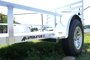 6 X 10 Aluminator     Aluminum Trailer    Custom Wheel Pkg inculded
