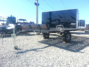 Shorelander 8x10 Flat Deck ATV Trailer Loading Ramps Included