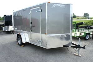 7 X 12 Homesteader Enclosed Custom Trailer With Bike Pkg