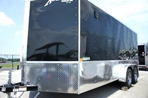 Homesteader 7 x 16 Enclosed  Trailer with Deluxe Pkg In Stock Ready for Delivery