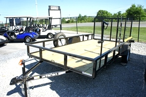 2014 7 X 12 Single Axle Lone Wolf Landscape Trailer
