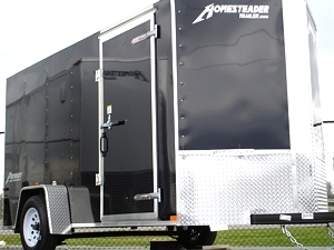 Patroit Vee  Nose Enclosed Trailer Ramp Door 36