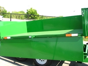 6 X 10  Homesteader Dump Trailer  Drop Down Side