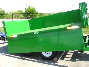 6 X 10  Homesteader Dump Trailer  Drop Down Side