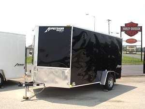 2018 7 X 12 Homesteader Patriot V Nose Enclosed Trailer