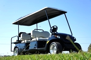 Yamaha 6Passenger Golf Cart Custom Wheels & Top   Sold