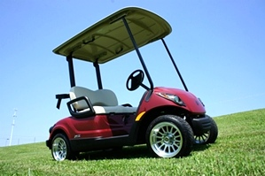 Yamaha Gas EFI Drive Golf Car  PTV  Custom Wheel Pkg