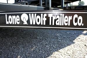 7 X 12 Single Axle Lone Wolf Landscape Trailer
