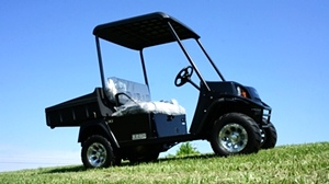 EZGO Terrian 250 Utility Cart Golf Car New Alum Wheel Pkg